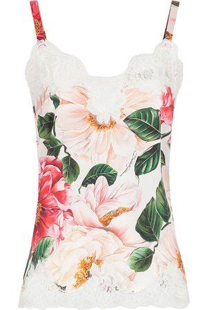 Dolce & Gabbana Top con encaje floral
