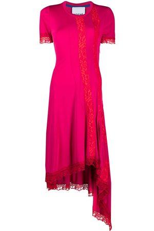 KOCHÉ Vestido asimétrico con detalles de encaje