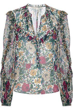 VERONICA BEARD Blusa Abra de seda floral