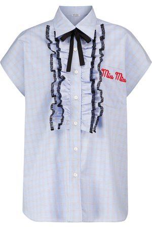 Miu Miu Camisa de manga corta de cuadros