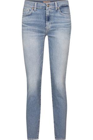 7 for all Mankind Jeans skinny Roxanne de tiro medio