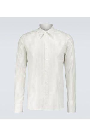 Bottega Veneta Camisa de algodón a rayas