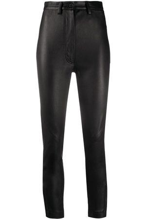 ANN DEMEULEMEESTER Pantalones slim estilo capri