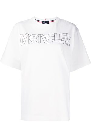 Moncler Camiseta con logo y cuello redondo