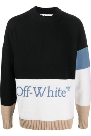 OFF-WHITE Colour-blocked logo jumper