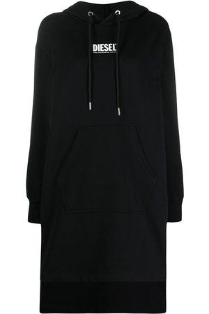 Diesel Vestido estilo sudadera con capucha y logo