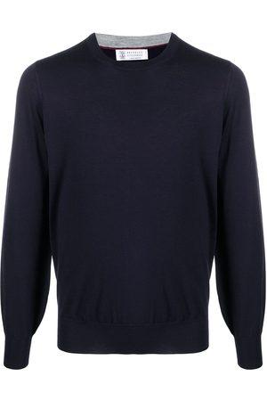 Brunello Cucinelli Jersey de punto fino con cuello redondo