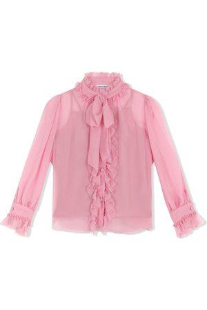Dolce & Gabbana Camisa con lazo en el cuello