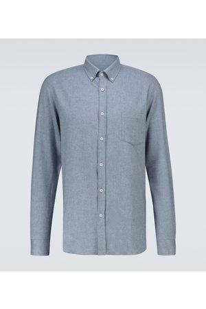 Sunspel Camisa de algodón de manga larga