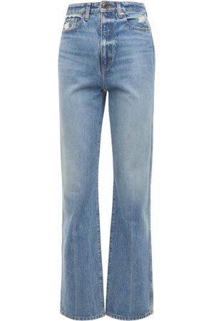 "Khaite | Mujer Jeans Rectos ""danielle"" Con Cintura Alta 24"