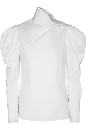 Erdem Blusa Cedric de popelín de algodón