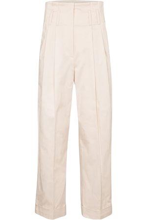 Brunello Cucinelli Pantalones rectos de algodón