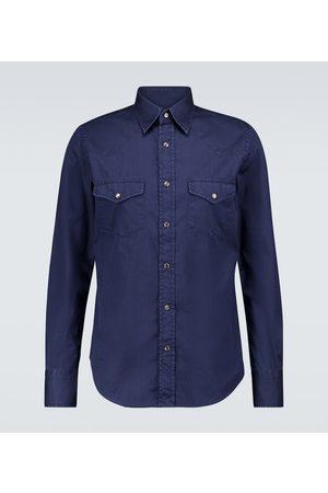 Tom Ford Camisa Western de jeans