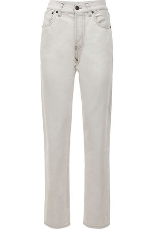 Saint Laurent Mujer Cintura alta - | Mujer Jeans Pierna Recta De Denim De Algodón 24