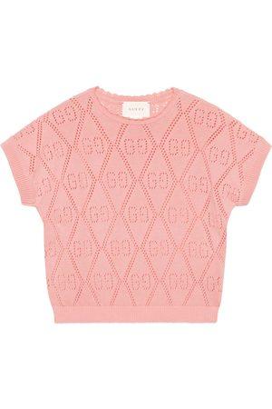Gucci Niña Sudaderas - Sudadera infantil de algodón con GG