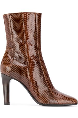 Saint Laurent Mujer Botines - Snakeskin effect ankle boots