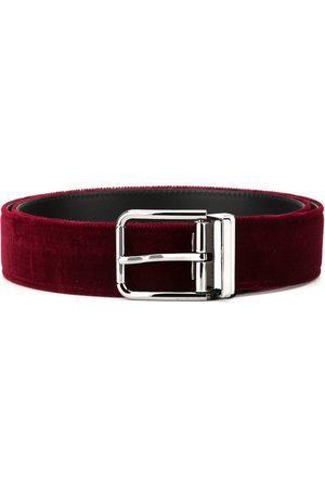Dolce & Gabbana Hombre Cinturones - Cinturón de terciopelo
