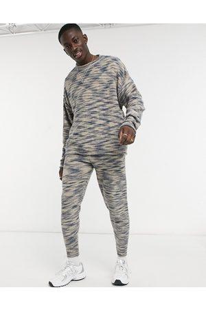 ASOS Hombre Chándals - Joggers extragrandes color avena con teñido espacial de (parte de un conjunto)-Beis