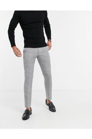 Moss Bros Pantalones de traje de corte slim a cuadros blancos y negros de Moss London
