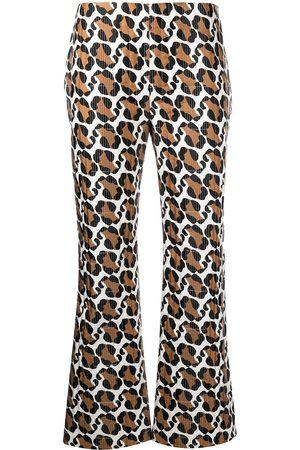 Fendi Pantalones con motivo de leopardo