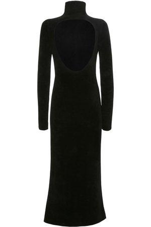 Jil Sander | Mujer Vestido De Terciopelo Con Corte En La Espalda 32