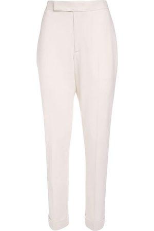 Ralph Lauren | Mujer Pantalones Rectos De Crepé De Lana 0