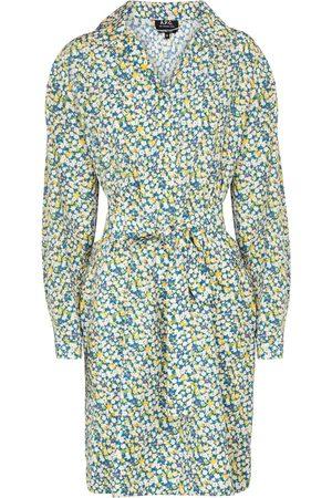 A.P.C. Vestido Melissa de seda y algodón