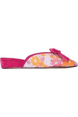 Olivia Morris At Home Mujer Chanclas - Slippers Daphne con estampado floral