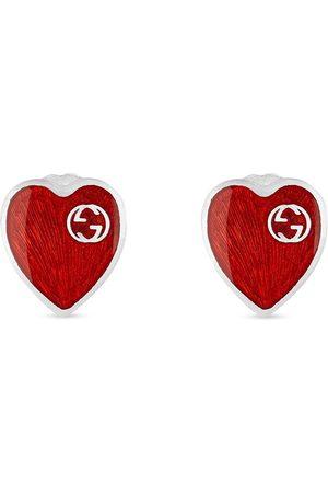 Gucci Hombre Pendientes - Pendientes con diseño de corazón y logo GG