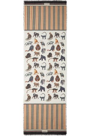 Burberry Bufandas y Pañuelos - Bufanda con monos estampados