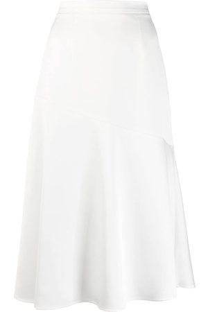 BLANCA Mujer Acampanadas - Falda con detalle de costuras asimétricas