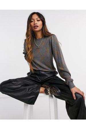 Y.A.S Mujer Jerséis y suéteres - Jersey gris y marrón de punto con diseño a rombos de (parte de un conjunto)