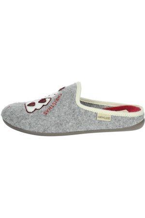 Grunland Pantuflas - Pantofola grigio CI2938 para mujer
