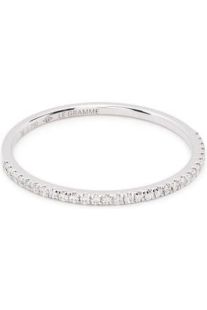 Le Gramme Anillo de 1g en oro blanco de 18kt con diamantes en pavé