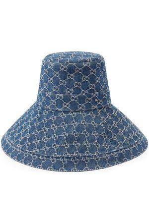 Gucci Sombrero con motivo GG Supreme con ala ancha