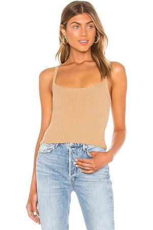 Song of Style Mujer Tops - Camiseta tirantes iris en color bronce talla L en - Tan. Talla L (también en M, S, XS).