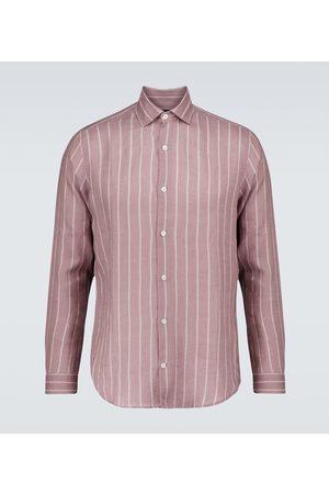 Frescobol Carioca Camisa Thomas de lino de rayas