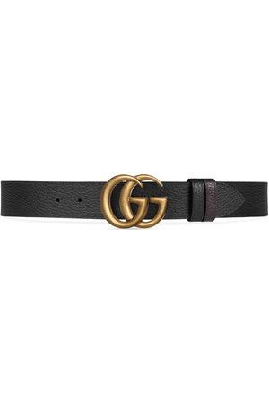 Gucci Hombre Cinturones - Cinturón de Piel Reversible con Hebilla de Doble G