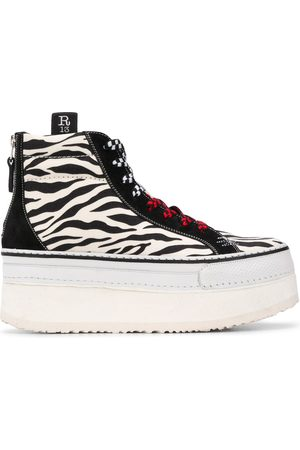 R13 Mujer Zapatillas deportivas - Zapatillas con motivo de cebra