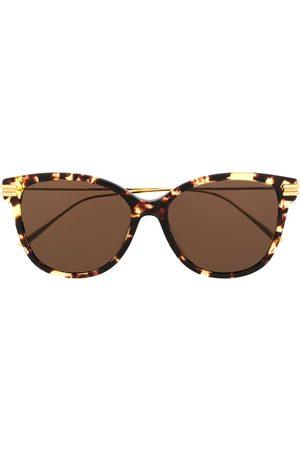 Bottega Veneta Gafas de sol redondas con efecto carey