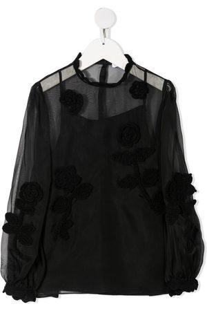 Dolce & Gabbana Blusa translúcida con bordado