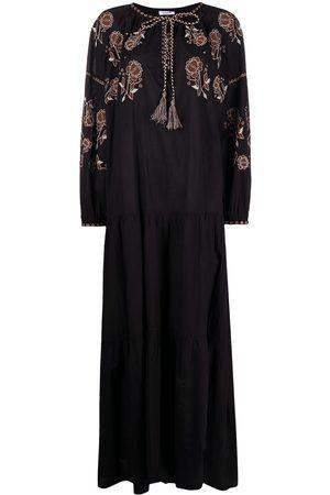 P.a.r.o.s.h. Mujer Largos - Vestido largo con bordado floral