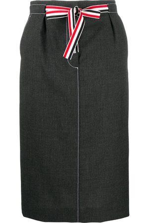 Thom Browne Mujer De talle alto - Falda con cintura lazada