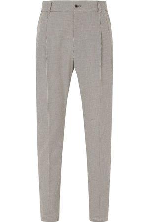 Dolce & Gabbana Hombre Pantalones de vestir - Houndstooth tailored trousers