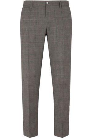 Dolce & Gabbana Hombre Pantalones de vestir - Prince of Wales checked trousers