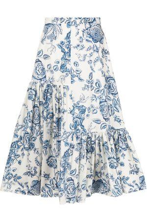 Erdem Mujer Estampadas - Falda Gaura midi con estampado floral