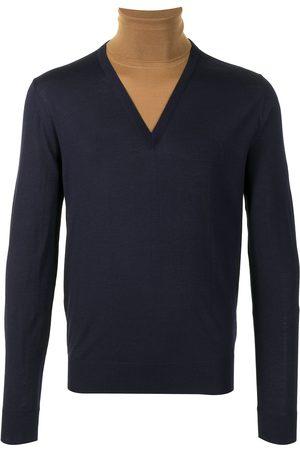 Dolce & Gabbana Hombre Cuello alto - Jersey de dos tonos con cuello vuelto