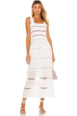 Waimari Vestido midi kate en color talla M en - White. Talla M (también en XS).
