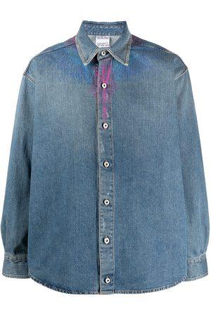 MARCELO BURLON Wings print denim shirt