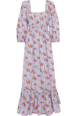 LOVESHACKFANCY Mujer Casual - Vestido largo Minnia de algodón